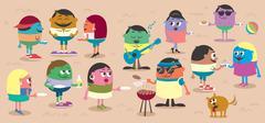 BBQ - stock illustration