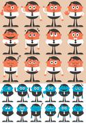 Character Emotions 2 - stock illustration