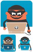 Computer Crime Stock Illustration