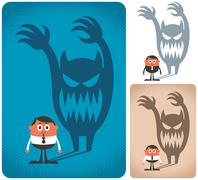 Fear - stock illustration