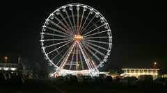 Timelapse of Fairground / Carnival ride - stock footage