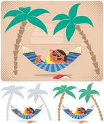 Stock Illustration of Hammock Relaxation