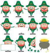 Leprechaun Set Stock Illustration