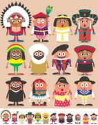 Nationalities Part 3 - stock illustration