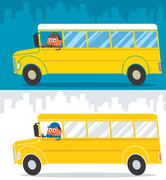 School Bus Driver Stock Illustration