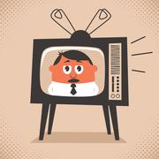 TV News Stock Illustration