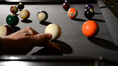 Billiard game situation Stock Footage