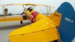 Stearman Biplane PT-17 Airshow - stock footage