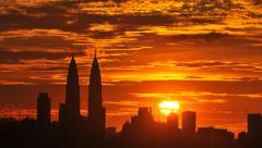 4K. Timelapse Kuala Lumpur, Malaysia skyline - stock footage