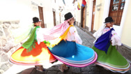 Stock Video Footage of Dancers in Quito. Ecuador.