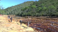 The Rio Tinto (River Tinto), Rio Tinto Mining Park, Huelva, Andalusia, Spain. Stock Footage