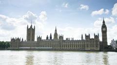 Timelapse of the Houses of Parliament, London, england Stock Footage