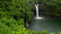 HAWAII – HILO – RAINBOW FALLS (PAN) # 2 Stock Footage