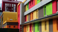 Colorful building HD Footage