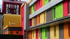 Colorful building Stock Footage
