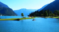 Achensee View Stock Footage