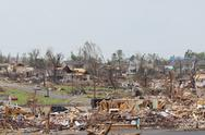 Stock Photo of Tornado Damage - Severe Storm
