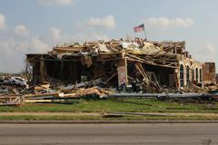 Tornado Damage - Severe Storm Stock Photos