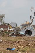 Tornado Damage - Severe Storm - stock photo