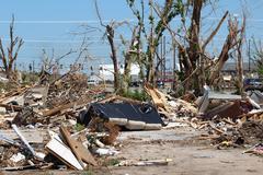 Stock Photo of Tornado Damage - Severe Storm