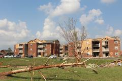 Tornado Storm Damage - stock photo