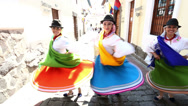 Stock Video Footage of SLOW MOTION. Dancers in Quito. Ecuador.