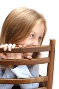 girl on a chair - stock photo