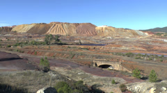 The lunar like landscape of the Rio Tinto Mining Park, Huelva, Andalusia, Spain. Stock Footage