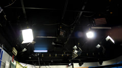 Television studio reflector Stock Footage