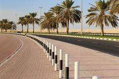 a general view of the waterfront of sharjah uae - stock photo