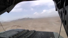 CH-47F Chinook Helicopter Crews In Action Stock Footage