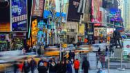 Stock Video Footage of Times Square Time Lapse