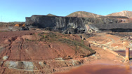 Stock Video Footage of Rio Tinto Mine railway, Huelva, Andalusia, Spain.