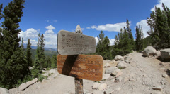 Trailhead Direction Sign - stock footage