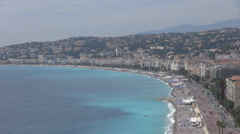 Panorama view sea city famous Nice france french riviera cityscape sunny summer  Stock Footage