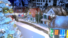 Toy train with Christmas gifts. Stock Footage