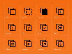 Copy Paste icons for Apps, Web Pages. - stock illustration