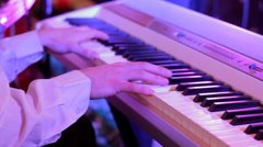 Piano Playing Jazz Concert HD - stock footage