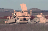 Stock Video Footage of M1A1 Abrams tanks  Military training Exersise