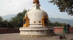Bouddha stupa , Kathmandu, Nepal Stock Footage