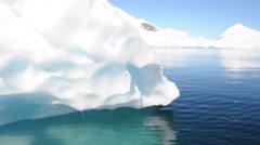 Iceberg in Antarctic ocean Stock Footage