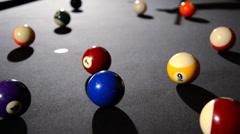 Billiard game Stock Footage