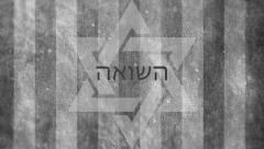 Shoah (The Holocaust) title opener in Hebrew and English  | Auschwitz Stock Footage