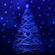 most beautiful christmas trees - stock illustration