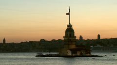 Stock Video Footage of Maiden's Tower