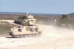 M1A1 Abrams tanks  Military training Exersise Stock Footage