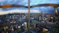 Elevator Ride Down Shibuya Stock Footage