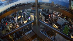 Elevator Ride Down Shibuya - stock footage
