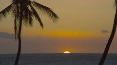 HAWAII – OCEAN SUNSET – LAST MOMENT Stock Footage