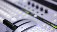 Video mixer control. Stock Footage